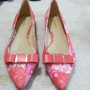 "Coach Coral pointy toe flats ""8.5"""